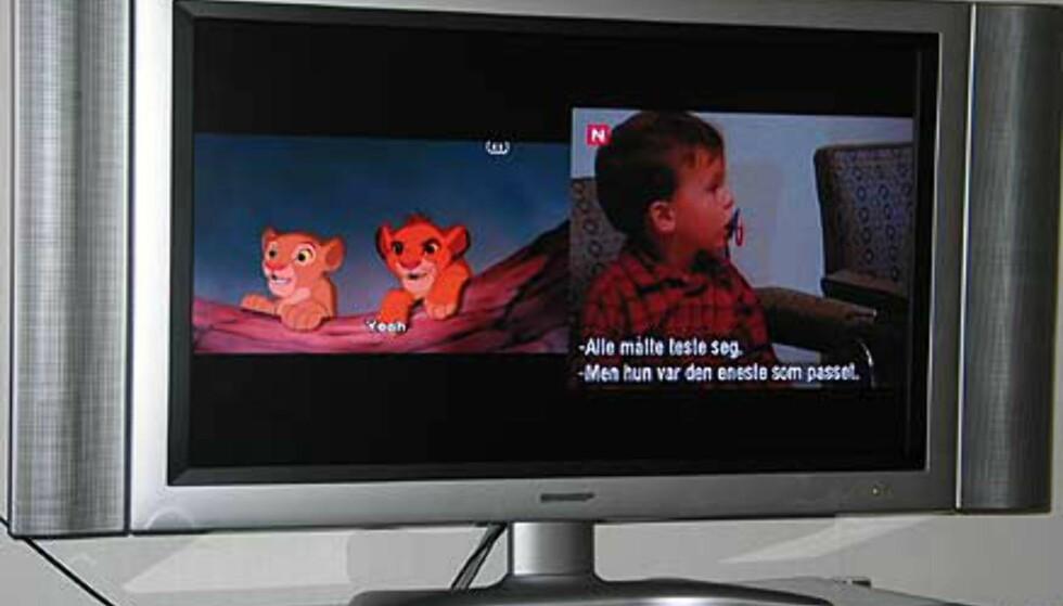 Bilde-i-bilde: DVD og TV