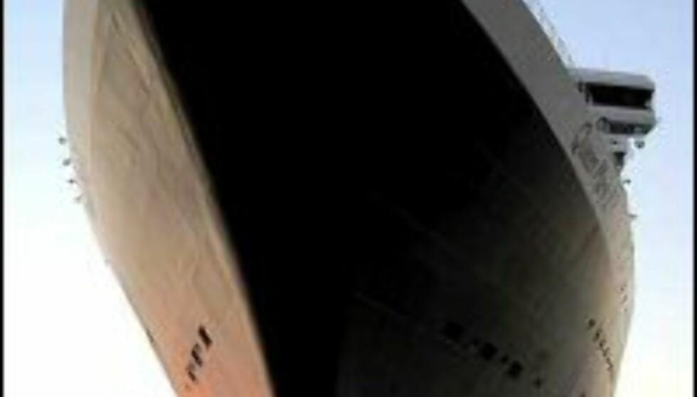 Verdens største og mest luksuriøse cruiseskip Queen Mary II gjester Bergen både i 2004 og 2005.