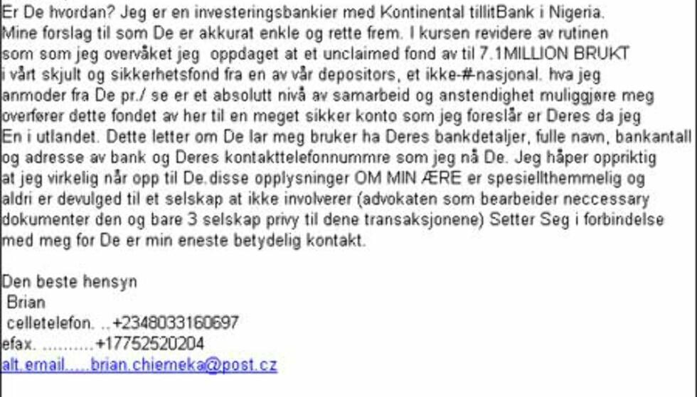 Endelig Nigeria-mail - på norsk!