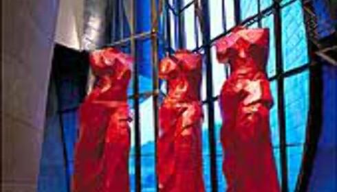Tre røde spanske venuser av Jim Dine hører med til de permanente samlingene.  Foto: Guggenheimmuseet
