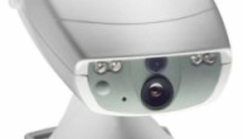 Selve kameraet festes på veggen eller på et eget stativ.