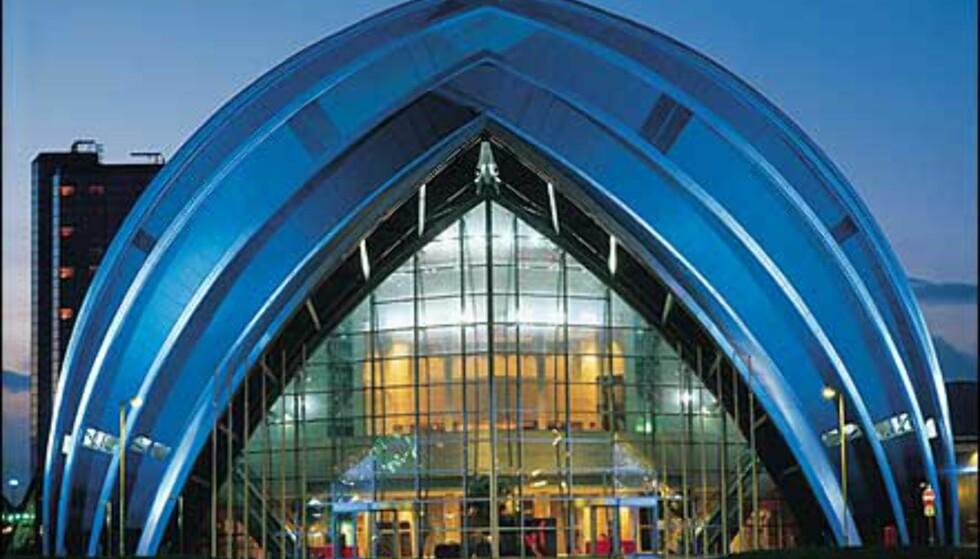 Konferanse- og messesenteret kompletterer moderne arkitektur ved elven. Foto: Greater Glasgow & Clyde Valley Tourist Board