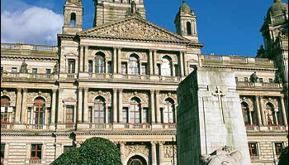 Glasgow City Chambers er byrådets hovedkvarter, og et fint eksempel på byggekunst fra forrige århundreskifte. Foto: Greater Glasgow & Clyde Valley Tourist Board