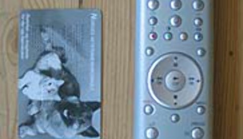 Fjernkontroll og høyttalere