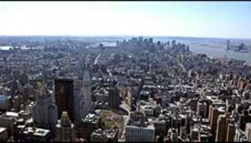 Nesten som å fly - utsikten fra Empire State Building kan ta pusten fra deg - spesielt på dager med sterk vind ...