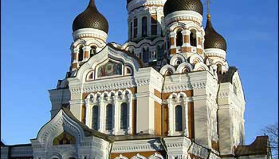 Aleksander Nevski katedraal er Tallinns største med løkkupler, og den ble bygget omkring 1900. Foto: Øyvind Blankvandsbråten