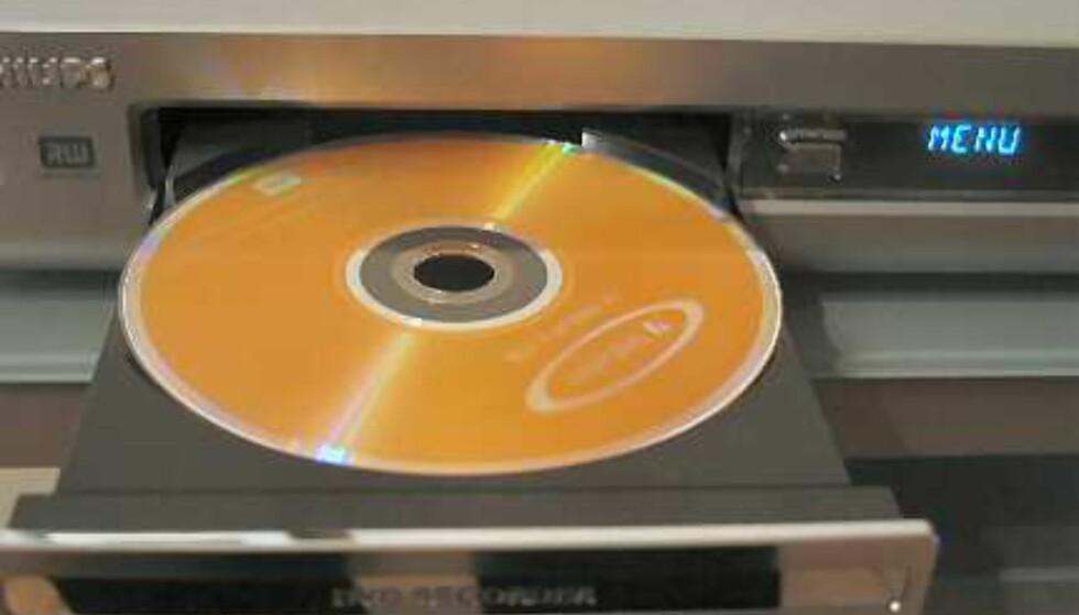 DVD-platene er langt enklere enn de gamle VHS-kassettene.