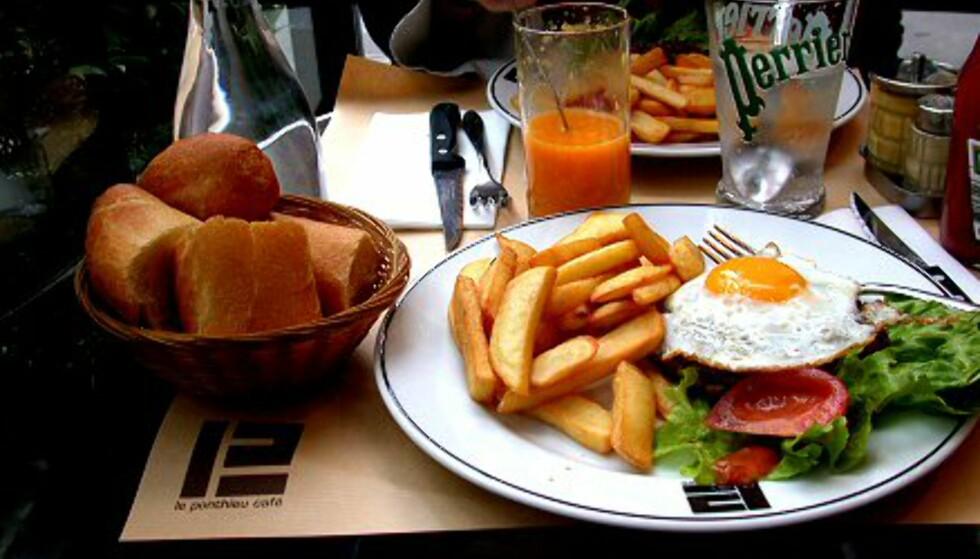 En hamburger Fedon Lindberg verdig - om man da bare ser bort ifra tilbehøret...  Foto: Elisabeth Dalseg Foto: Elisabeth Dalseg