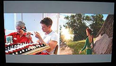 Bilde i bilde: TV3 og Shrek på DVD til høyre