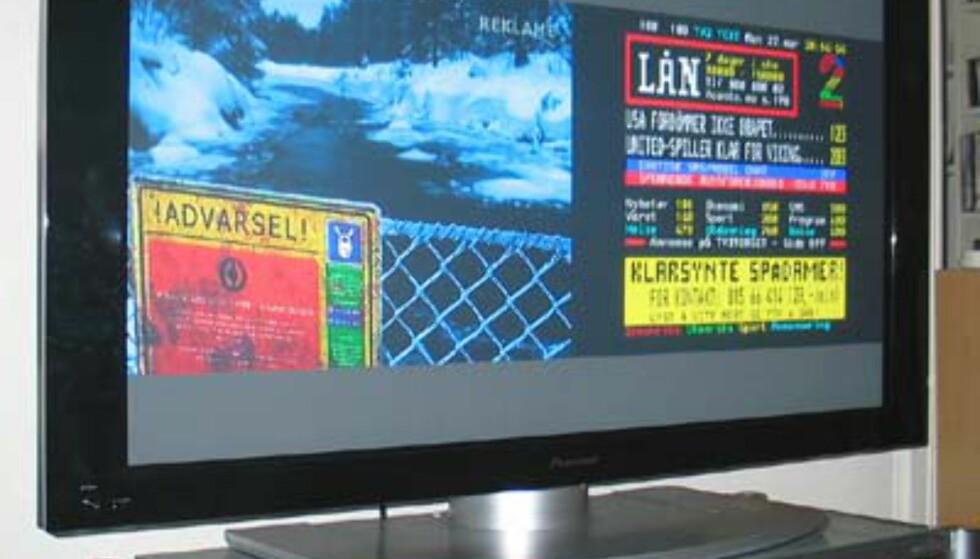 Splitscreen er en fordel når du ikke vil gå glipp av TV-programmet når du bruker tekst-TVen.
