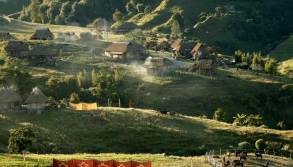 Samuraienes landsby ved Taranaki på New Zealands nordøy.Gjengitt med tillatelse fra Warner Bros. og Sandrew Metronome Foto: Warner Bros.og Sandrew Metronome