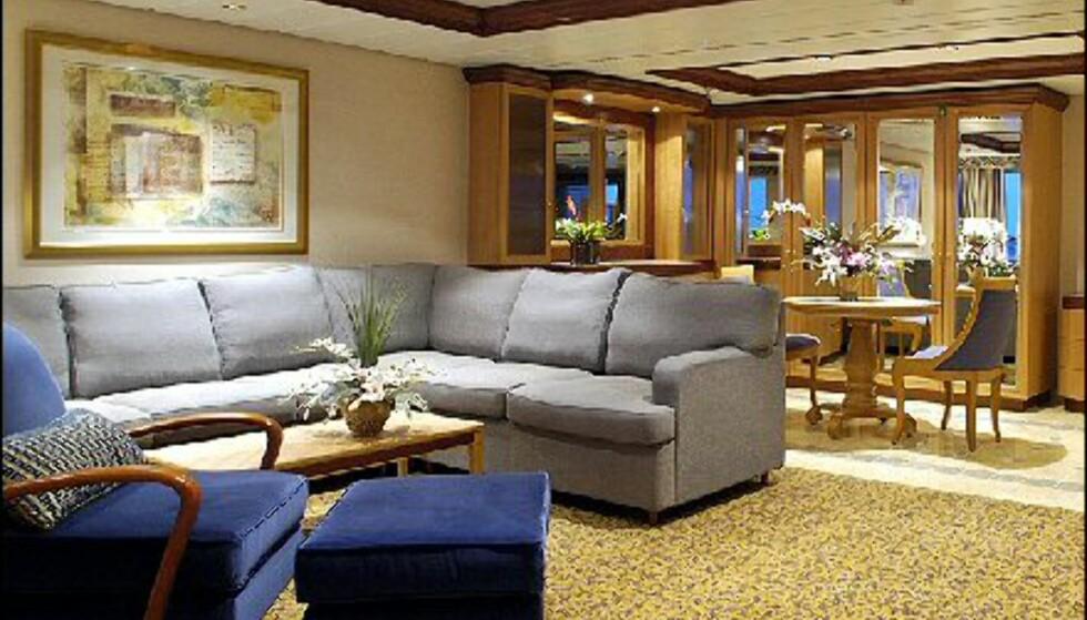 RCL satser på kunst. Her fra en suite på et av Jewel of the Seas søsterskip.