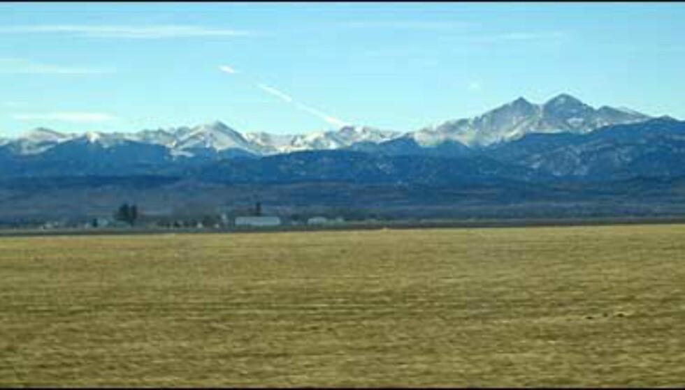 På veien til Rocky Mountains kan du nyte slike panoramaer.