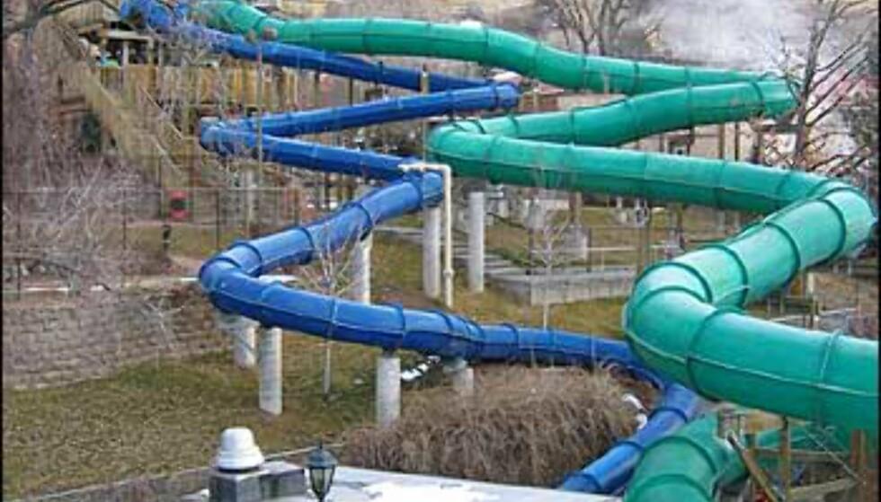Vannsklier til badeanleggene i Glenwood Springs.
