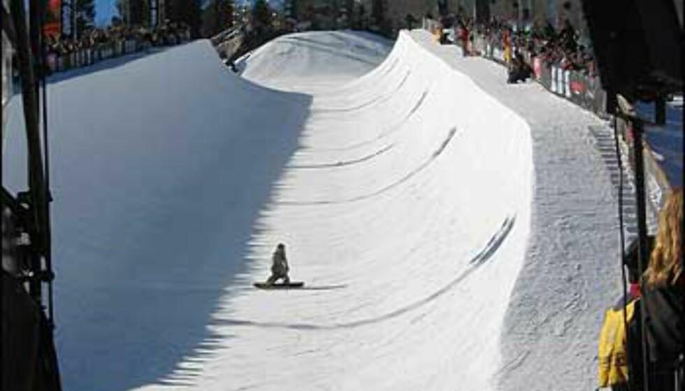 Snowboardpipe i Aspen.