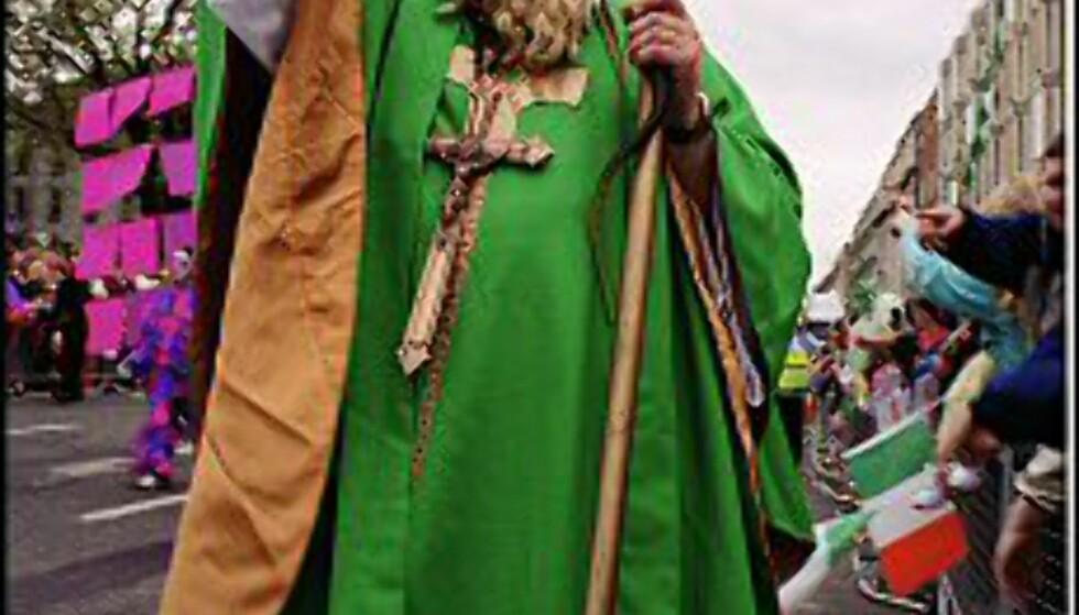 St. Patrick er en selvskreven gjest i det store opptoget i Dublin. Foto: St. Patrick's Festival / Pat Redmond Foto:  St. Patrick's Festival/Pat Redmond