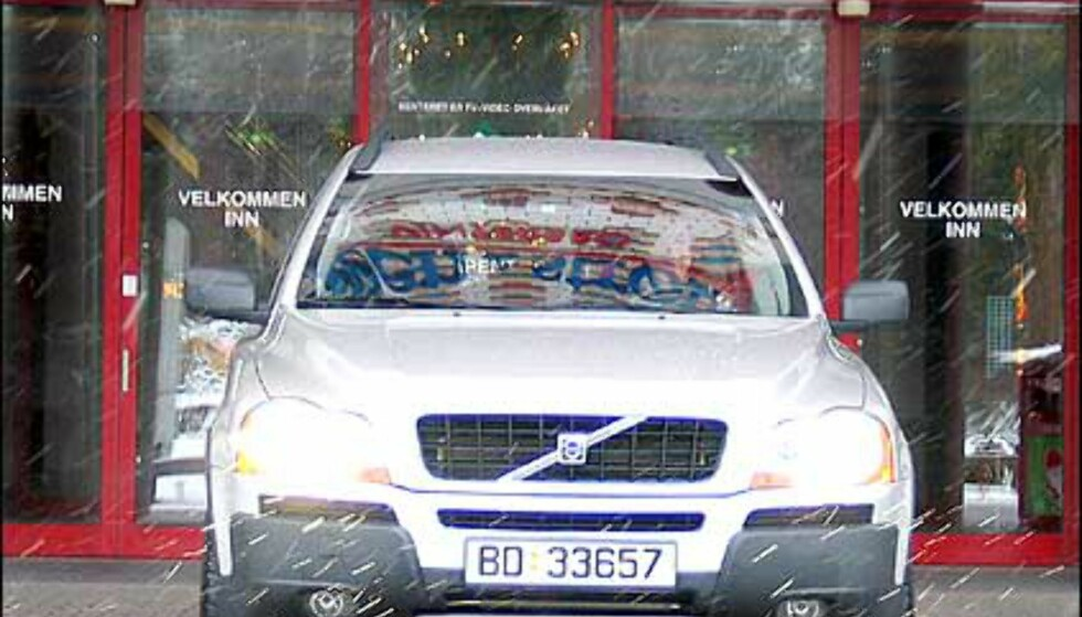 Volvo XC90 står seg også i snøstorm.