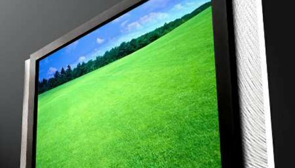 Samsungs 57-tommer. Denne prototypen er antagelig verdens største LCD-TV.