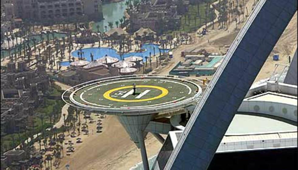Utsikt langs stranden fra Burj Al Arab. Foto: Dubai Desert Classic