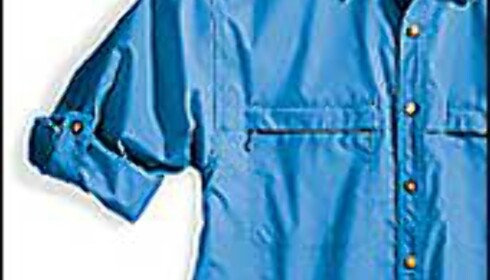 Myggskremmende skjorte med solfilter som bonus. Navnet er talende, Buzz Off. Fra Ex Officio. Foto: Ex Officio