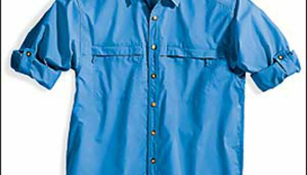 Buzz Off er det talende navnet på klærne som både skal skremme myggen, og holde de farlige solstrålene unna med solfaktor 30. Foto: Ex Officio Foto: Ex Officio