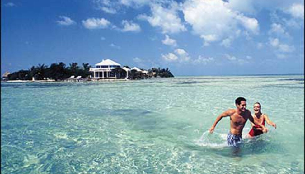 Belize for bading. Foto: Cayo Espanto Foto: Cayo Espanto