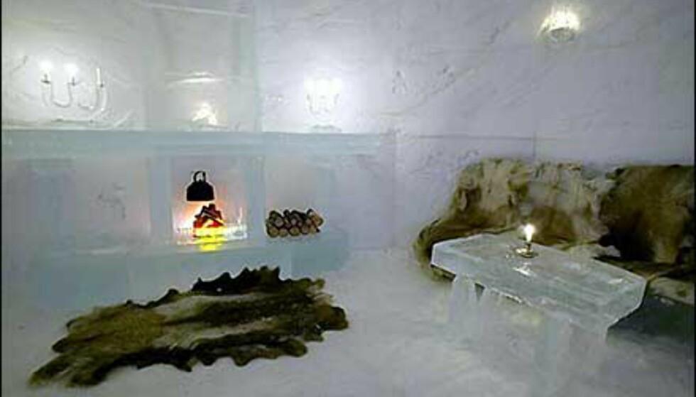 Deltakerne i 71 grader nord fikk overnatte på Alta Igloo Hotell i Alta Friluftspark. Foto: Alta Igloo Hotell Foto: Alta Igloo Hotell