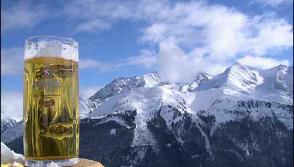 Fra Mayerhofen i Østerrike - slik vil vi gjerne ha vinterfjellene. Foto: Morten Aanonli Foto: Morten Aanonli