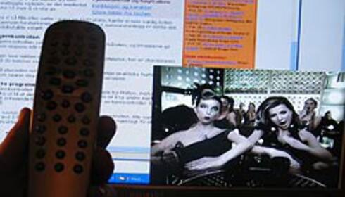 <strong>PIP-FUNKSJON:</strong> Her surfer vi på nettet, samtidig som vi ser på TV. Men hvilken knapp var det vi skulle trykke på for å forstørre TV-bildet igjen?
