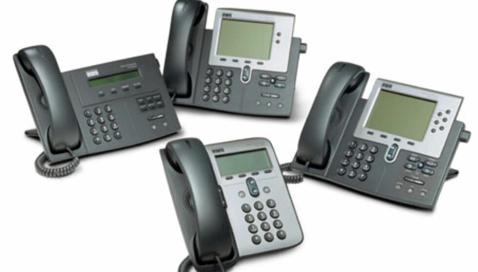 Cisco er blant de selskapene som satser stort på produksjon av IP-telefoner med utvidet Internett-funksjonalitet.