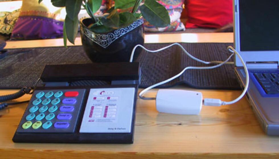 Telefon på nett med USB-adapter