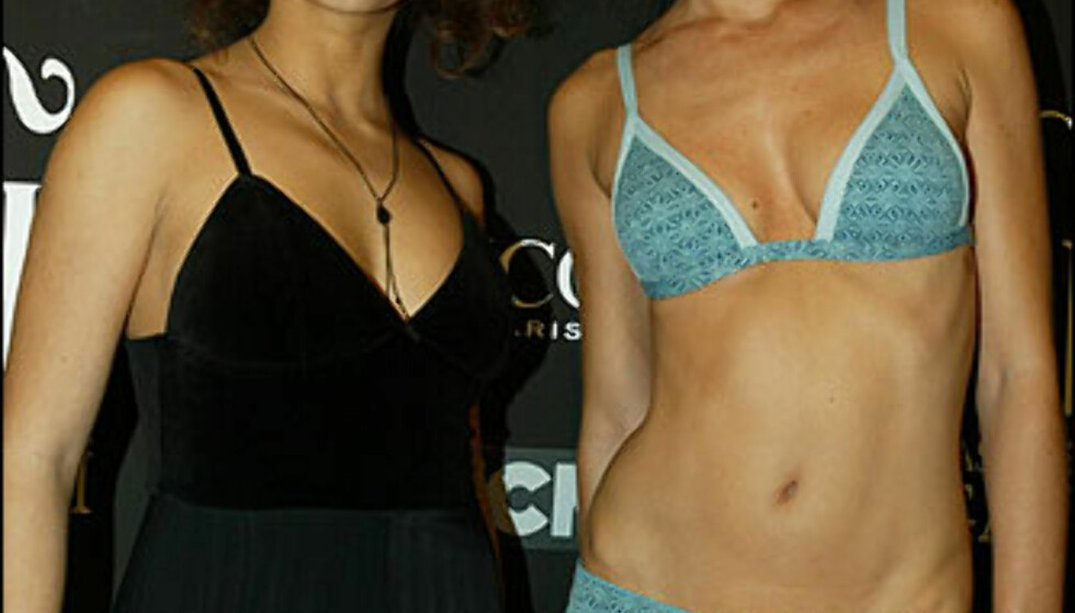 Monica Cruz (t.v.), Penelope Cruz' lillesøster gjør det godt som danser i en Friends-lignende spansk TV-serie. Hun defilerte også for det spanske merket TCN under moteuka. Foto: Moda-barcelona.com