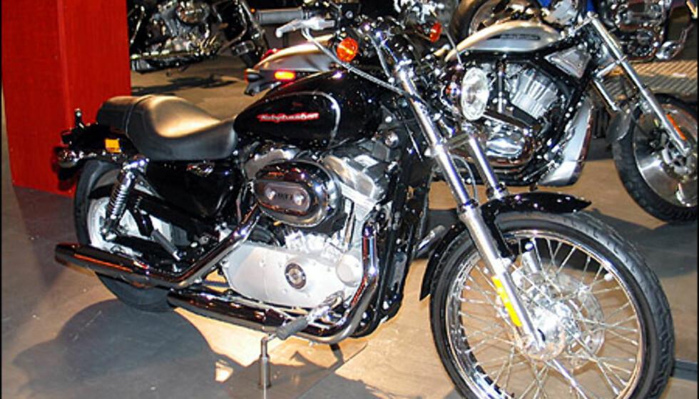Harley Davidson XL 883 Sportster er ny av året. Dette er en forholdsvis rimelig inngang til livet med Harley. Den har en motor på 53 hestekrefter og koster 120.900 kroner.
