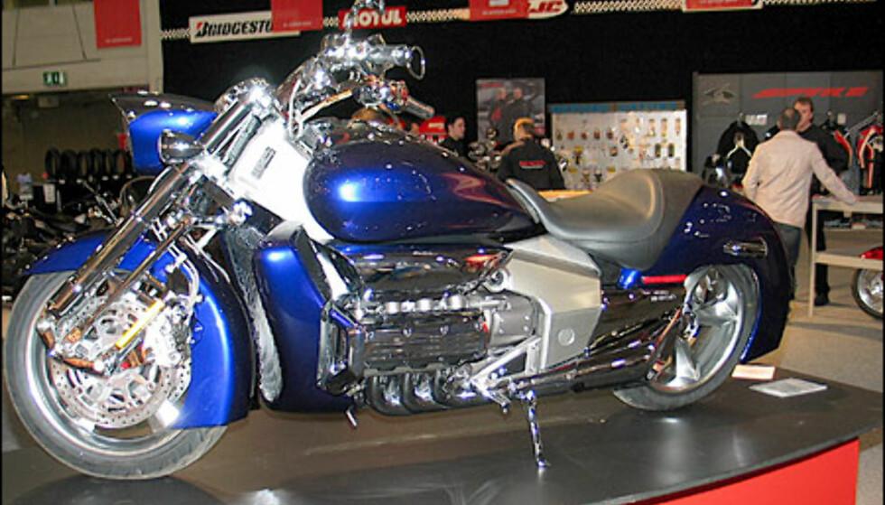 Dette er en konseptsykkel fra Honda. Den er ikke til salgs.