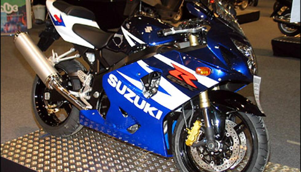 Suzuki GSX-R600 er en slem sykkel med 120 hestekrefer. Den koster 139.900 kroner.