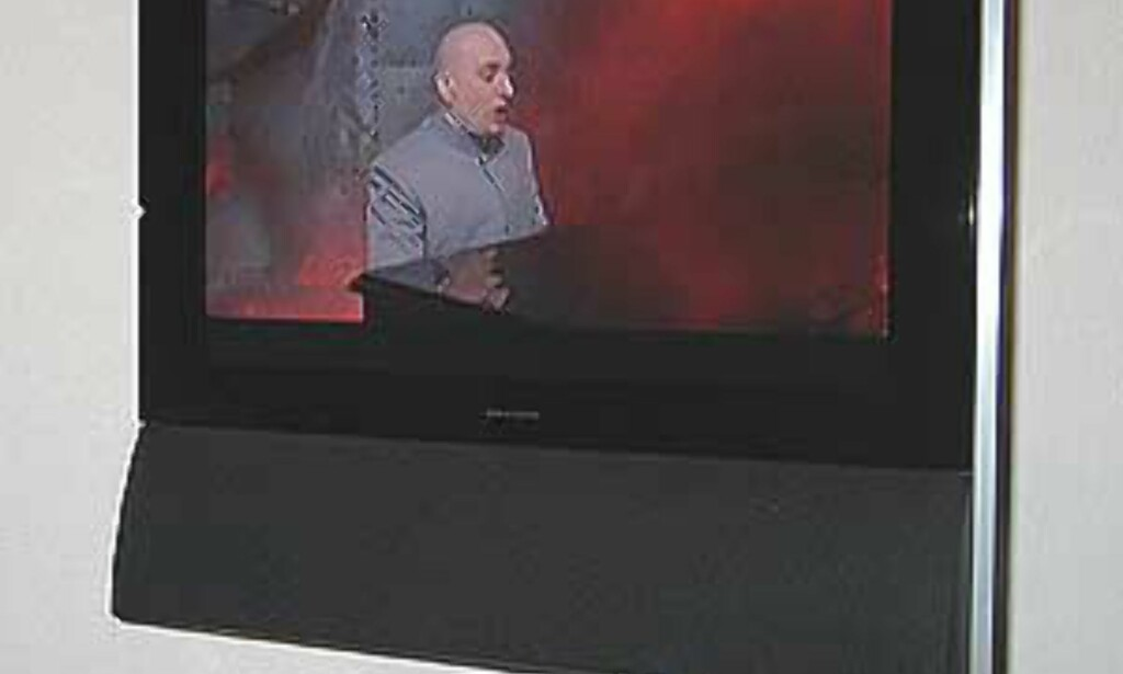 TVen er her snudd 35 grader mot venstre