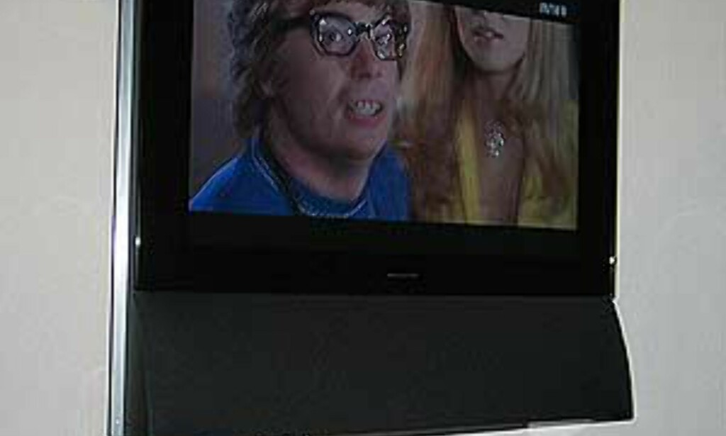 TVen er her snudd 35 grader mot høyre