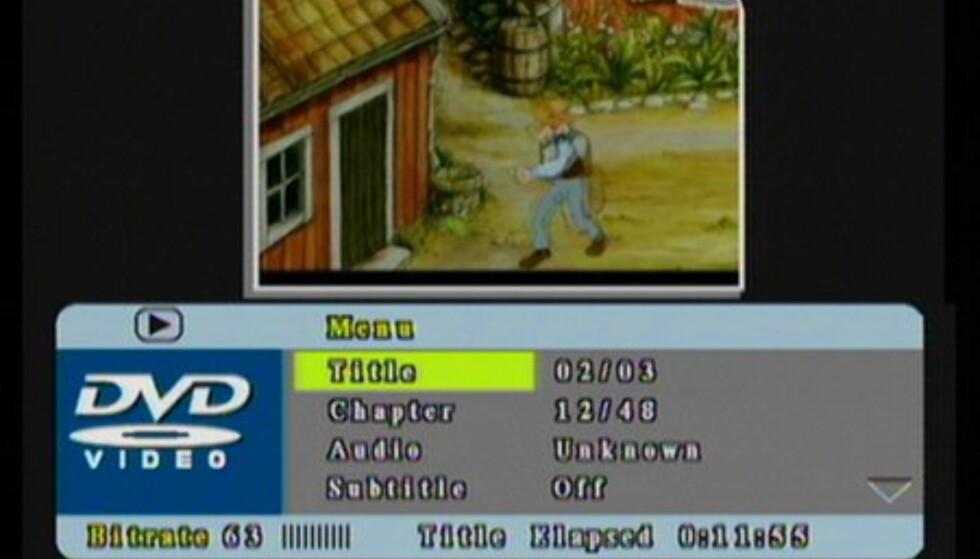 Utvidet info under avspilling av DVD