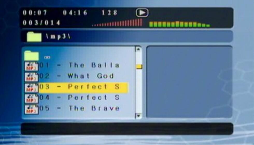 MP3-avspilling.