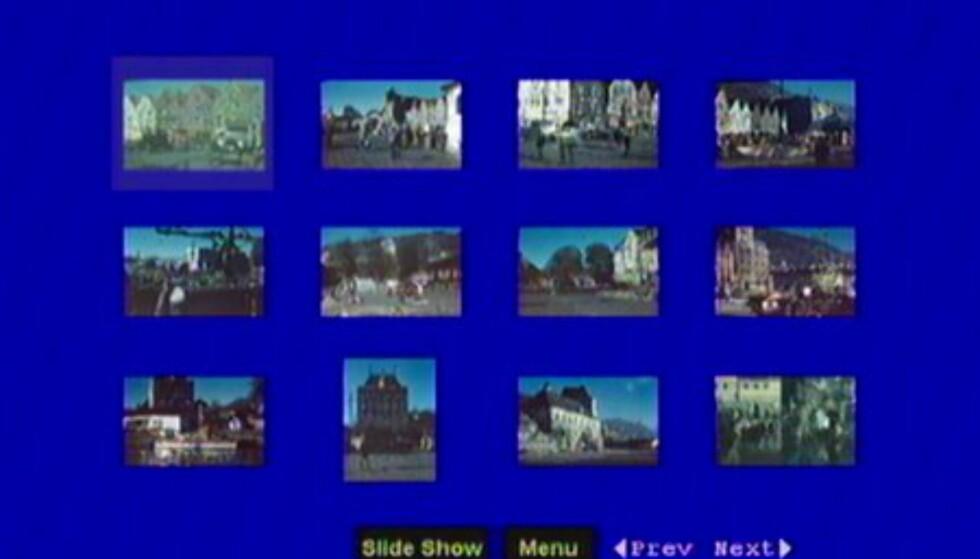 Miniatyrer av bilder i en mappe