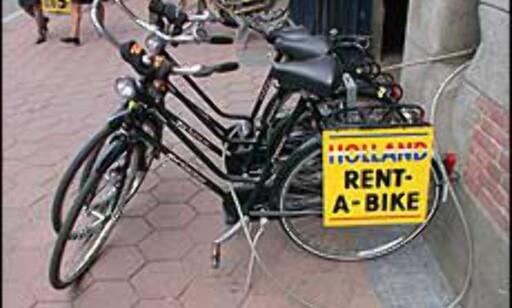Lei en sykkel i Amsterdam. Eller Rotterdam, hvis du bestemmer deg for å droppe den timeslange togturen.