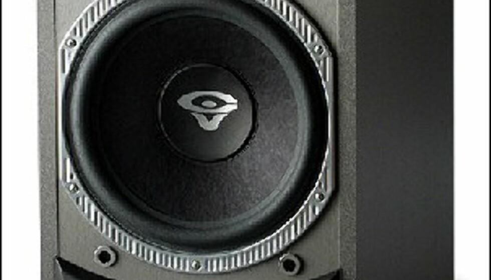 """Hi-Fi Klubben: CERWIN VEGA V-12S 2998 kroner<br /> 12"""" basselement med 150 watts forsterker"""