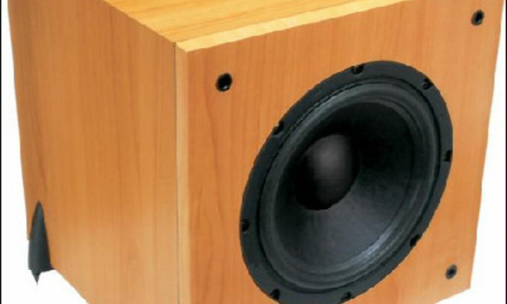 GALE 3080W Sub 2298.- hos Hi-Fi Klubben. 100 watt forsterker og 10 tommer bass