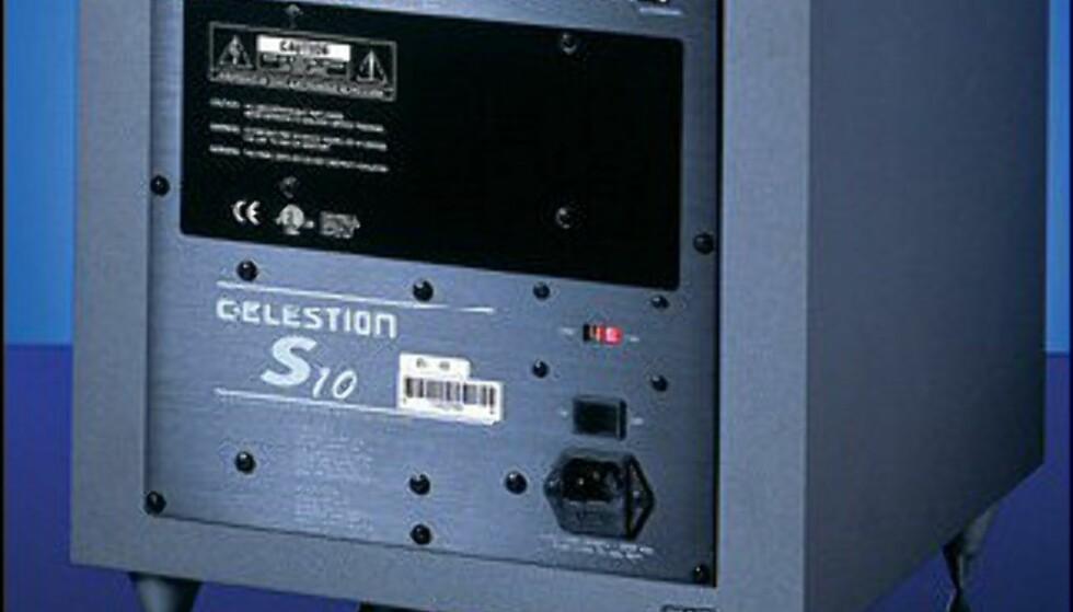 """Hi-Fi Klubben   CELESTION S10 4998.-  8"""" basselement   200 watt forsterker"""