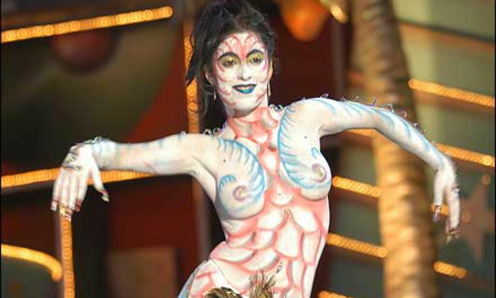 Karnevalene har mange konkurranser, blant annet med fokus på kostymer. Her et av de malte kostymene fra i fjor.  Foto: www.laspalmascarnaval.com Foto: www.laspalmascarnaval.com