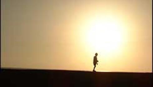 Valget er ditt: Snømåking eller solbading. Foto: Fredrik L. Andersen. Foto: Fredrik L. Andersen.