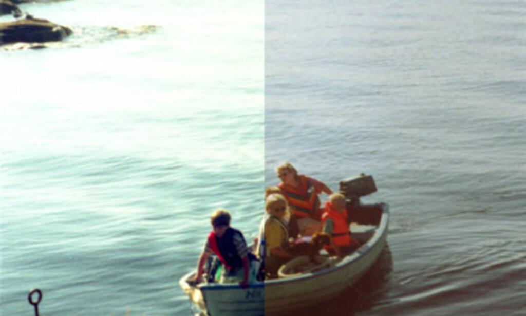 Skan av negativ film (venstre del) vs av paiprkopi (høyre del)