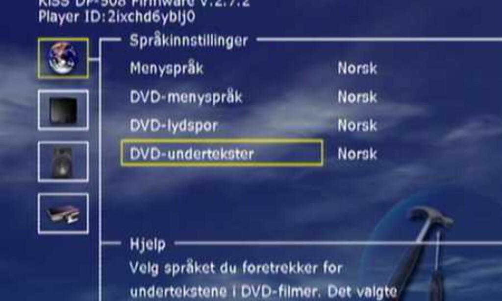Menyen er enkel og på norsk