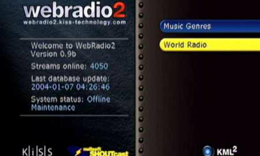 Webradio2 imponerte stort.