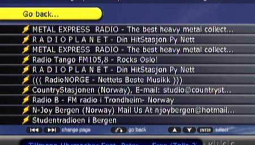 Norske radiokanaler
